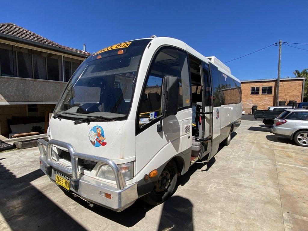 Living School new buses - Hello Hino